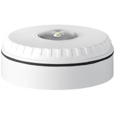 Beacon with white housing and red flash color for ceiling mounting- SOL-LX-C-WR